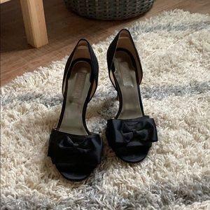Badgley Mischka Black Bow Heels
